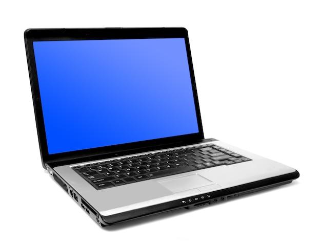 Один современный ноутбук на белом