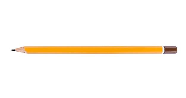 白い背景で隔離の1本の鉛筆