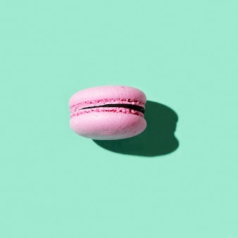 녹색 쿠키 마카롱에 핑크 마카롱 1 개 하드 라이트