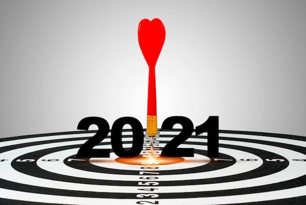 2021 년에 빨간 다트 화살 1 개 프리미엄 사진