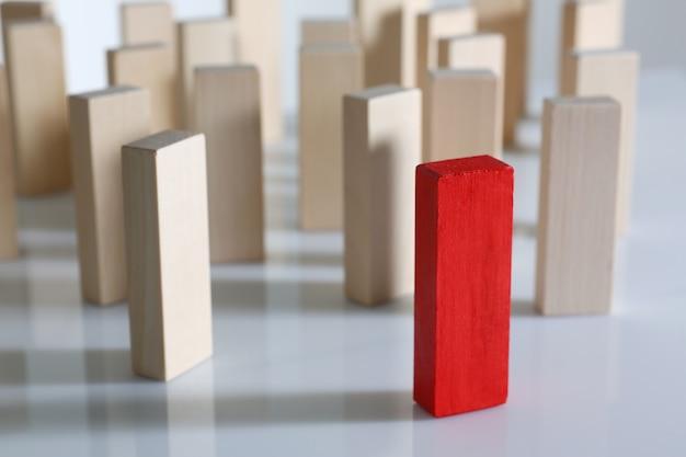 One red winner lottery wood block row