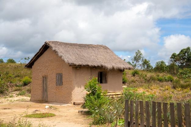 マダガスカル島の住民からの1つの典型的な家