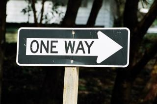 One way, sign