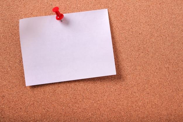 흰색 스티커 메모 메모 고정 코르크 게시판
