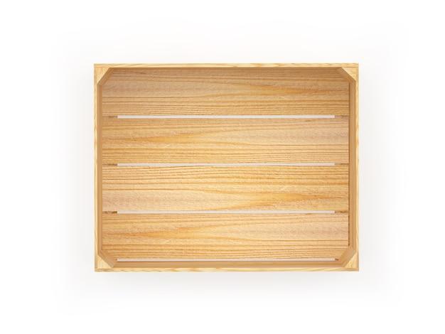 Один деревянный грузовой ящик