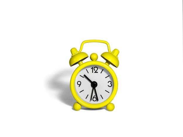 노란색 알람 시계 1 개
