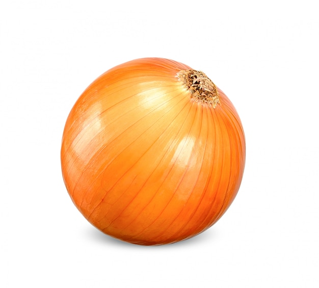 Onion isolated on white clipping path
