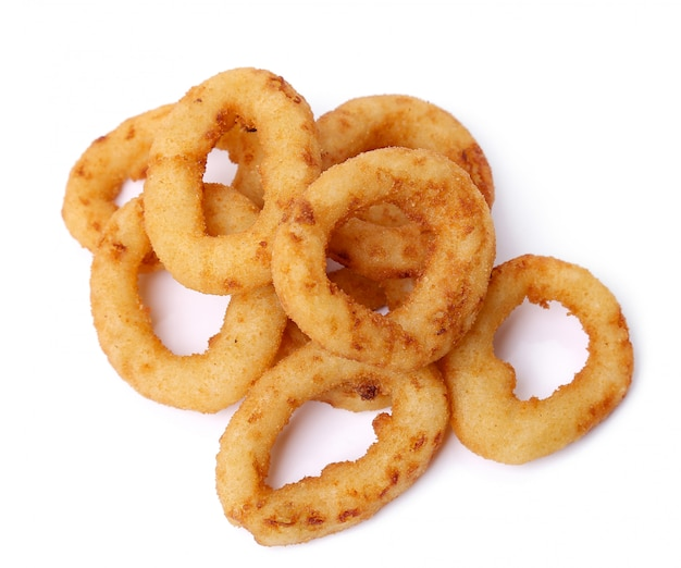 Onion rings on white on white on white
