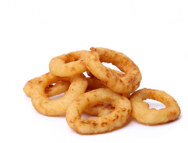 Onion rings on white on white