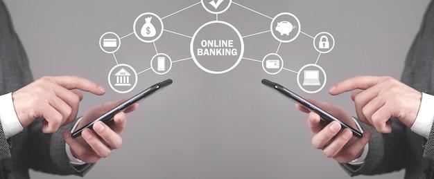 オンラインバンキング。ビジネス。インターネット。技術