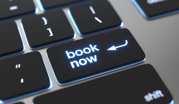 Online booking concept.