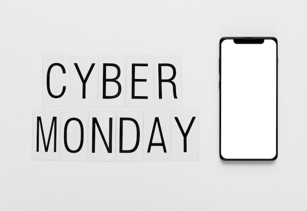 Online cyber monday message with phone