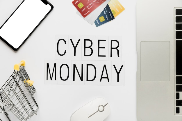 Online cyber monday shopping