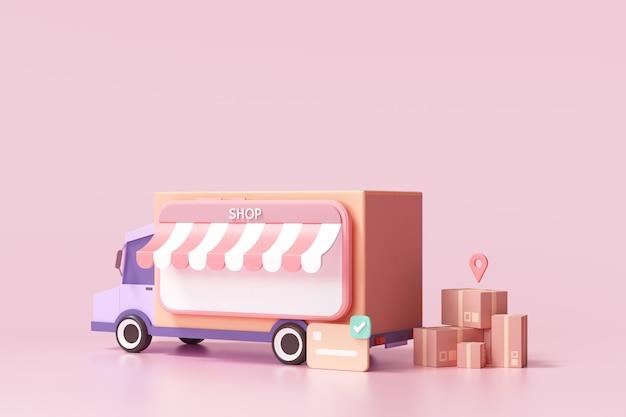 온라인 배송 서비스, 물류 및 온라인 주문 추적