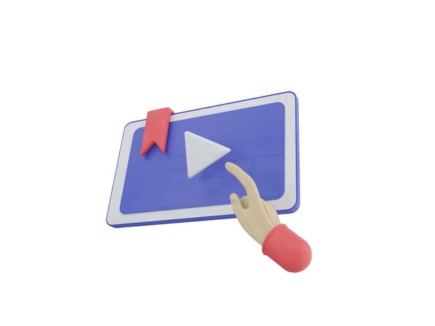 온라인 교육 3d 그림 설정 아이콘 전자 책 온라인 강의 커리큘럼 회색 파란색