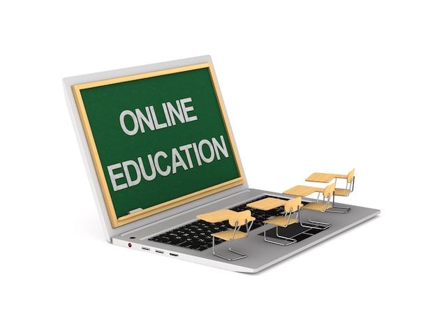 オンライン教育の3dイラスト