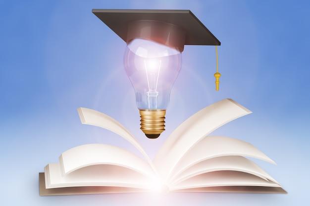 Концепция онлайн-образования. 3d визуализация.