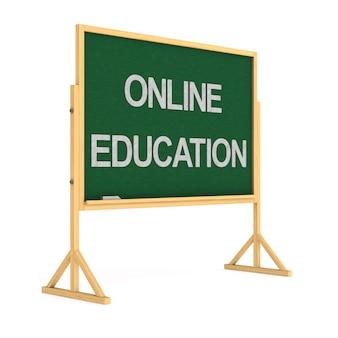Онлайн-образование. изолированный 3d-рендеринг