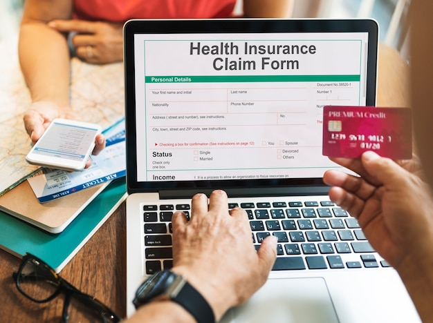 Online health insurance registration