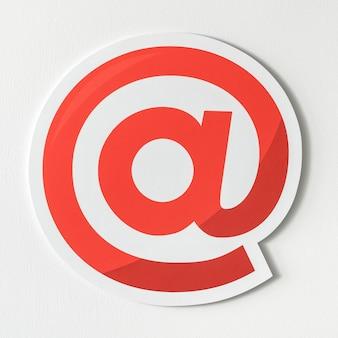 All'icona del simbolo di internet online