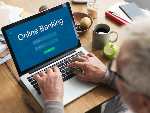 Online payment internet banking  concept