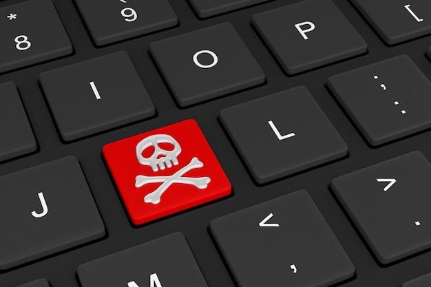Интернет-концепция пиратства 3d иллюстрация