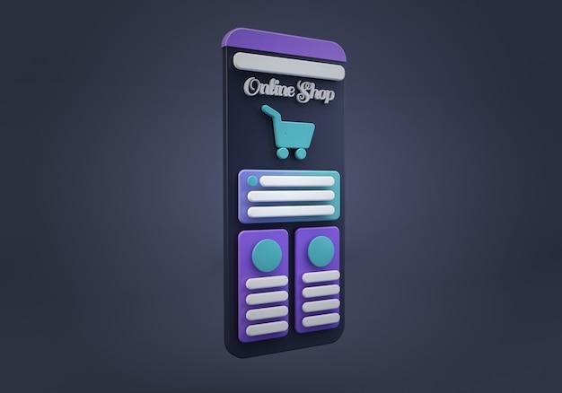 Online shop app interface
