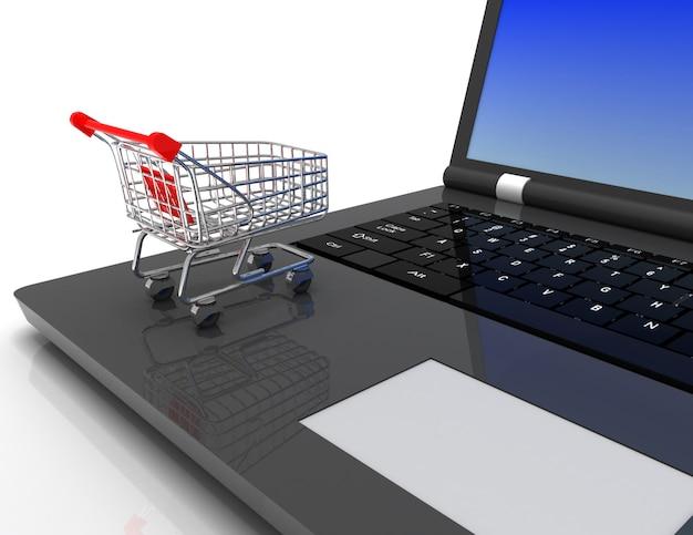 オンラインショッピングの3dコンセプト
