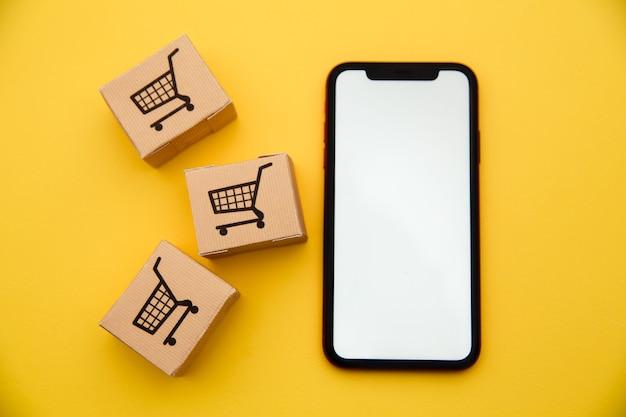 인터넷 개념을 통한 온라인 쇼핑 및 전자 상거래