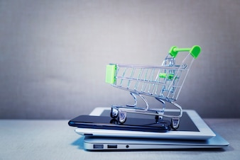 Online shopping and payment concept