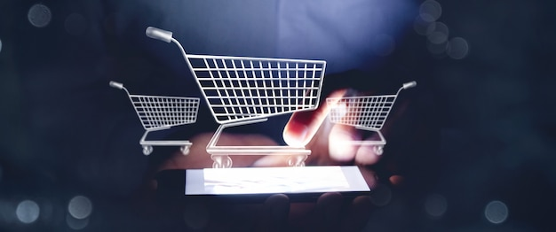 Online shopping business icon application