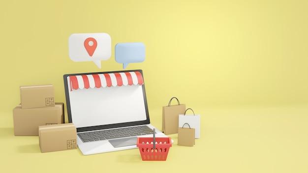 オンラインショッピングのコンセプト、eコマース