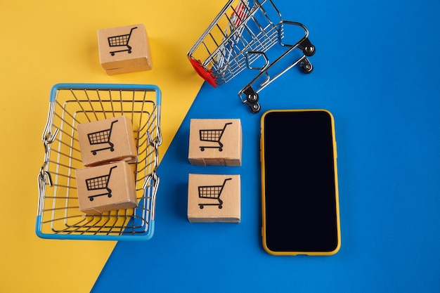 Концепция покупок в интернете.