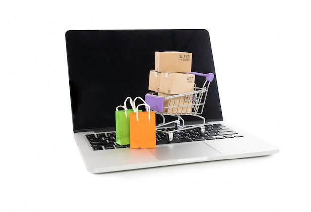 Online shopping or ecommmerce concept