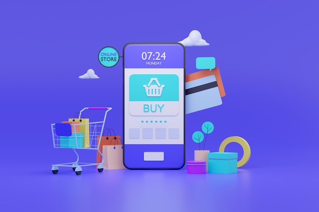 Online store on mobile application