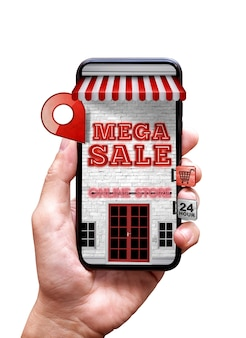Online store on mobile phone