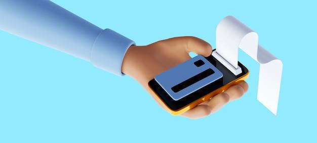 Онлайн-транзакция через смартфон, отправка и получение монет и концепция онлайн-платежей. 3d иллюстрация