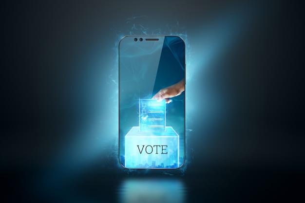 電子投票技術の概念のための投票と電子投票によるオンライン投票