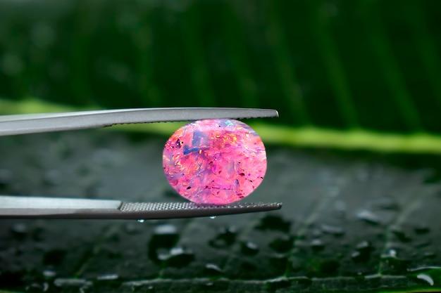 Opal pink opal gem