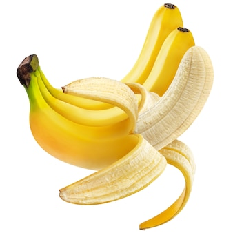 Open banana isolated