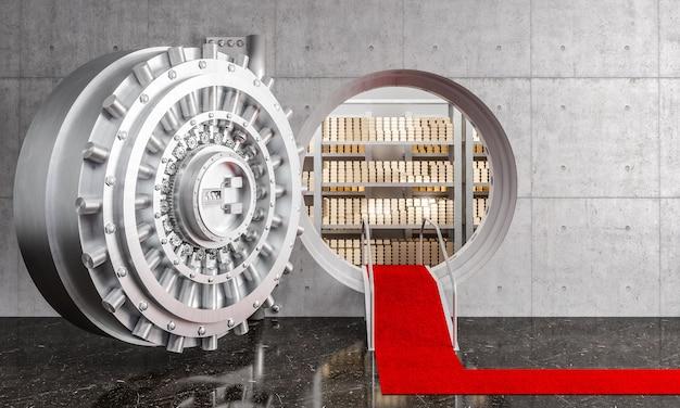 Открытая дверь банковского хранилища
