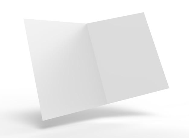 Open blank folder mockup 3d illustration