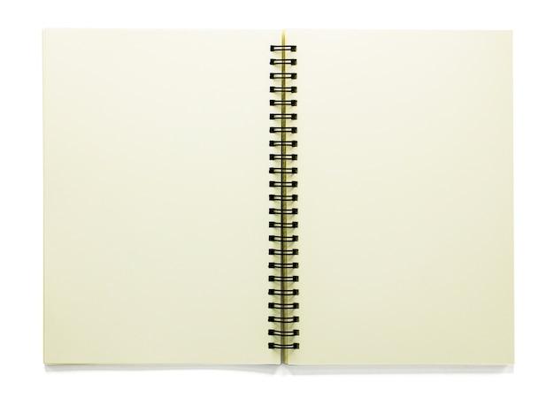 클리핑 패스와 함께 흰색 절연 빈 스케치북 열기