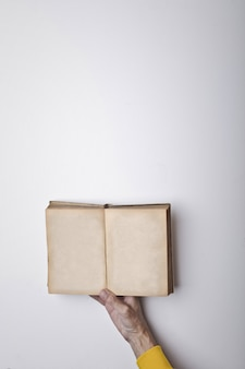 Open book in a hand