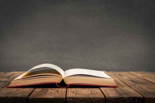 Open book isolated on background