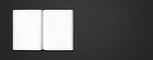 黒い旗で隔離の開いた本