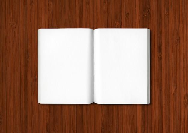 暗い木製で隔離の開いた本
