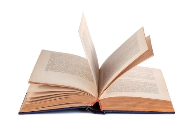 흰색, 교육에 고립 된 오픈 책