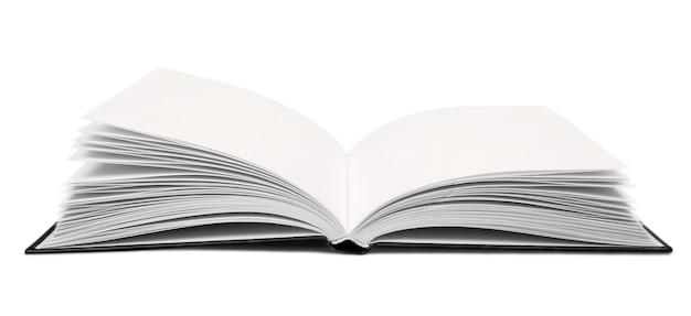 Открытая книга, изолированные на белом фоне