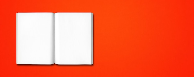 Open book isolated on a red banner